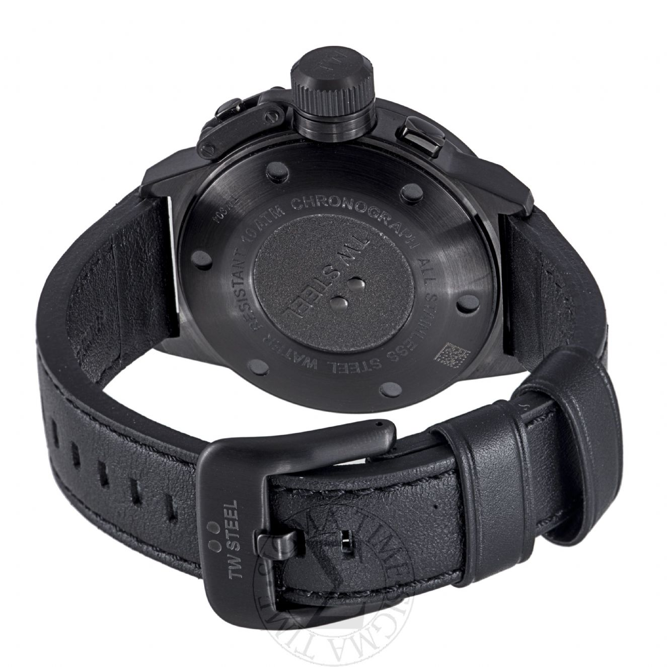 9e7178be9e7 TW STEEL Canteen Cool Black 50mm Chronograph Gents Watch TW905